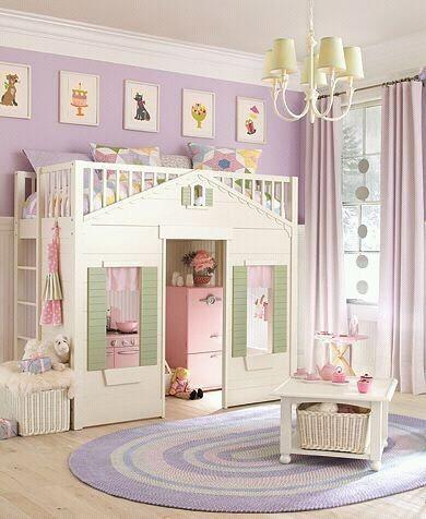 Cama y casita recamara pinterest camas recamara y - Habitaciones para ninos pequenos ...