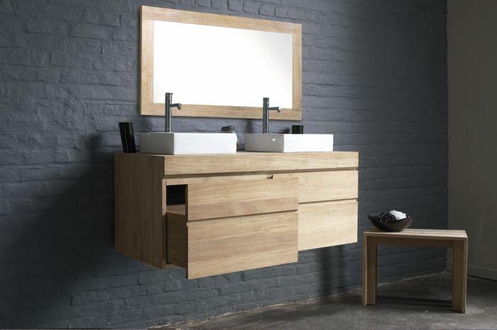 Wandschrank für Badezimmer tischbecken zwei Salle de bain - badezimmer wandschrank