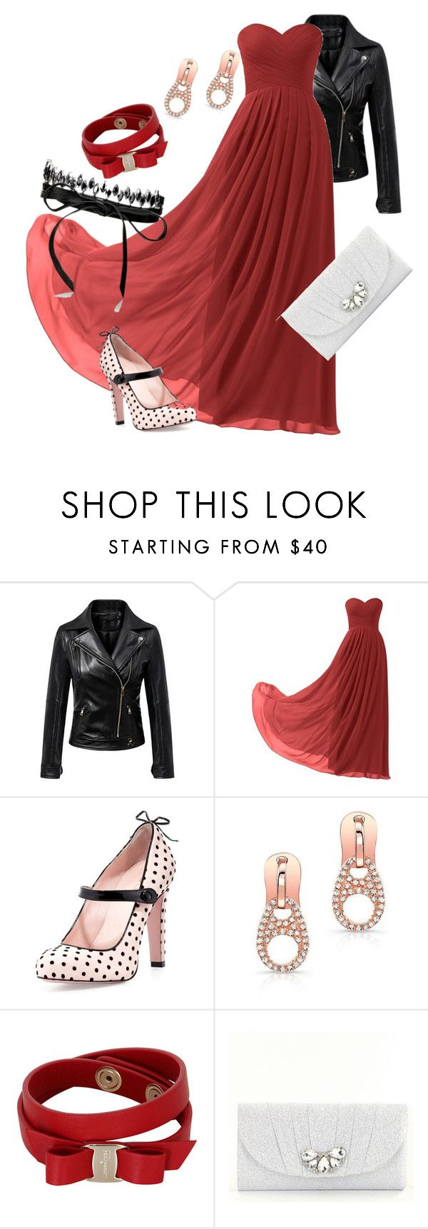 """""""District 8: Textile"""" by madalynkw on Polyvore featuring Chicnova Fashion, Remedios, RED Valentino, Anne Sisteron, Salvatore Ferragamo, Kate Landry and Fallon"""
