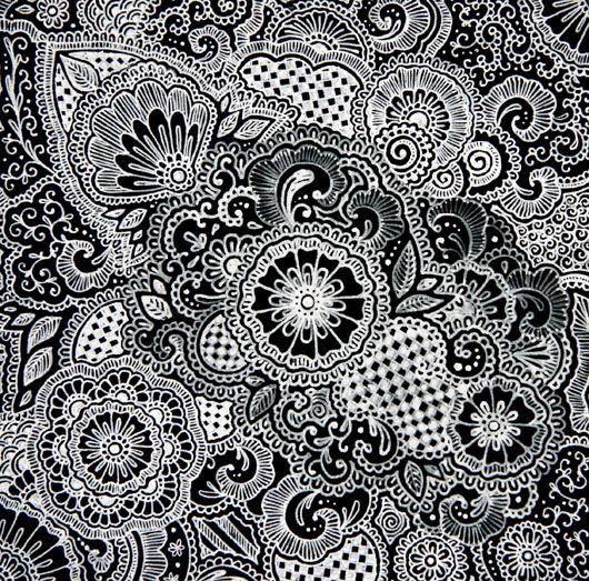 Henna Wallpaper: Shapes Colors Zentangle Mandala Art
