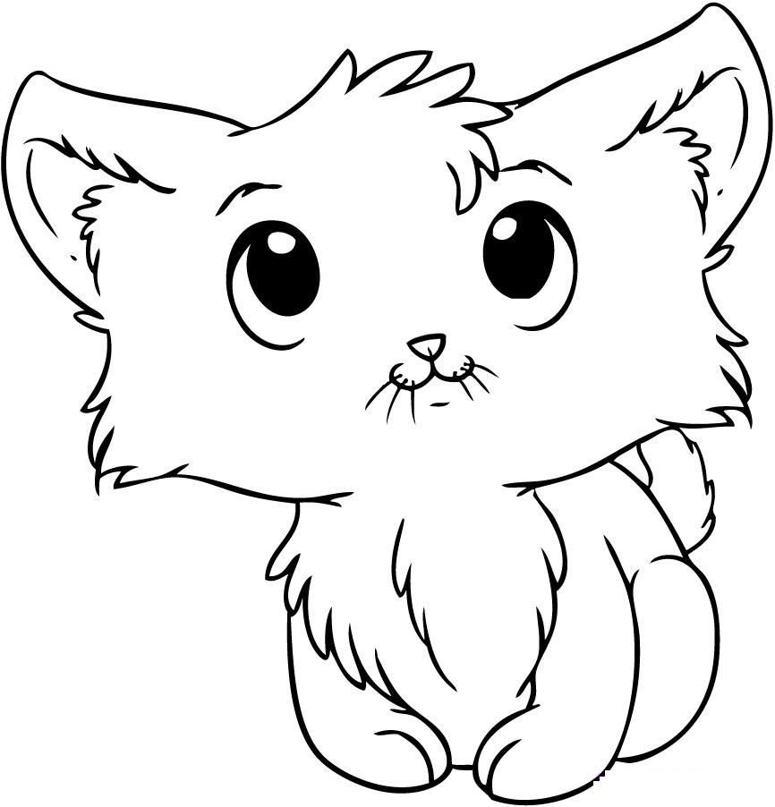 Kitten Coloring Pages Best Coloring Pages For Kids Kittens