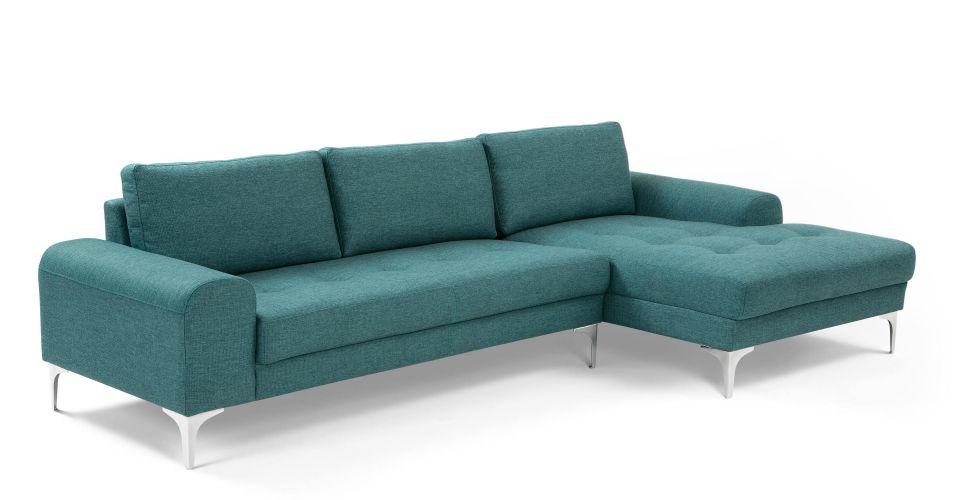 Vittorio Right Hand Facing Chaise End Corner Sofa Teal Canape Angle Canape Mobilier De Salon