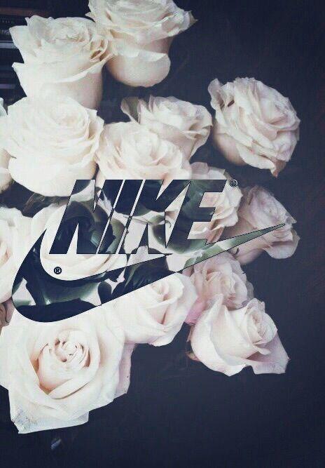 sports shoes 5e9db 267ce Image via We Heart It  background  flowers  nike  roses  iphonebackground