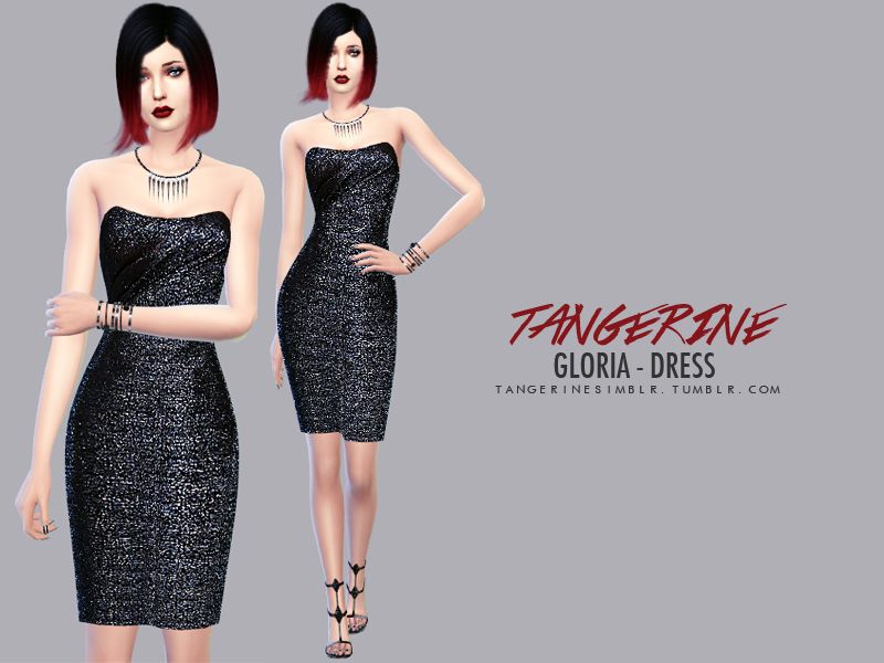 Gloria - DressTerms of Use1 colorTag with #tangerinesimblr if you use my creation, thank you!DOWNLOADSimsFans / Mediafire / Dropbox / SimFileShare / The Sims Resource