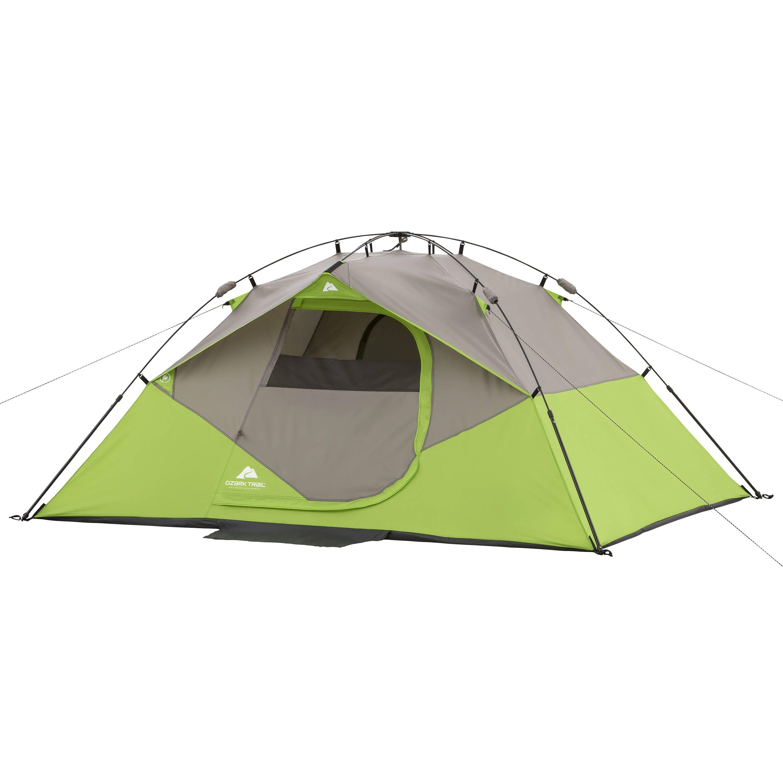 Ozark Trail 6 Person Instant Cabin Tent Walmart Com Ozark Trail Dome Tent Tent