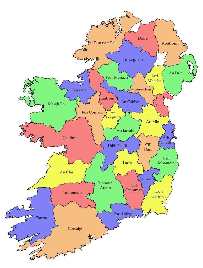 Map Of Ireland In Irish.Map Of Eire Celt I M Me Scotch Irish Ireland Northern Ireland