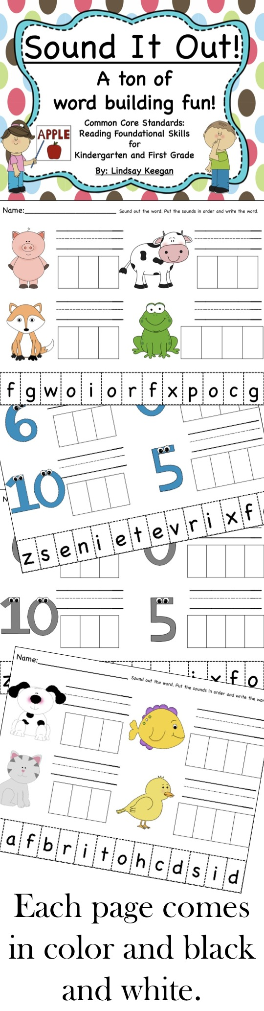 Sound It Out Word Work And Letter Sounds Fun Kindergarten Reading Activities Reading Foundational Skills Kindergarten Writing [ 2066 x 540 Pixel ]