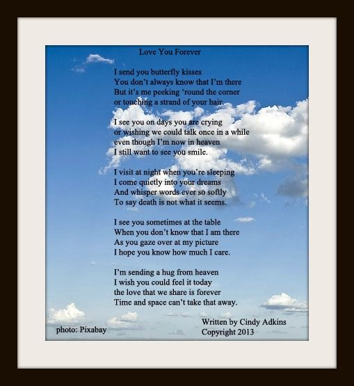 Lost Loved Ones Poems Quotes : memory+poems+of+lost+loved+ones this poem is from the book love you ...