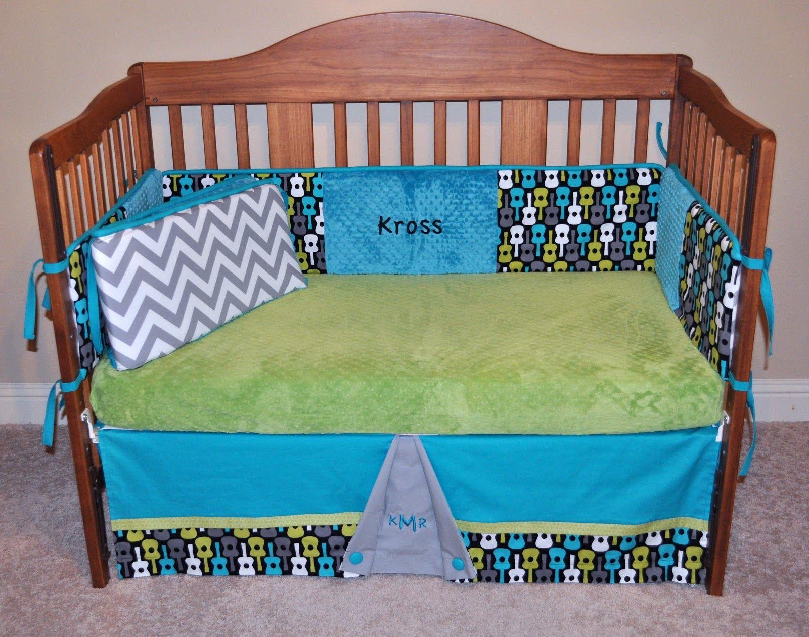 Precious and Prosperous Designs: Lagoon Groovy Guitar Crib Bedding