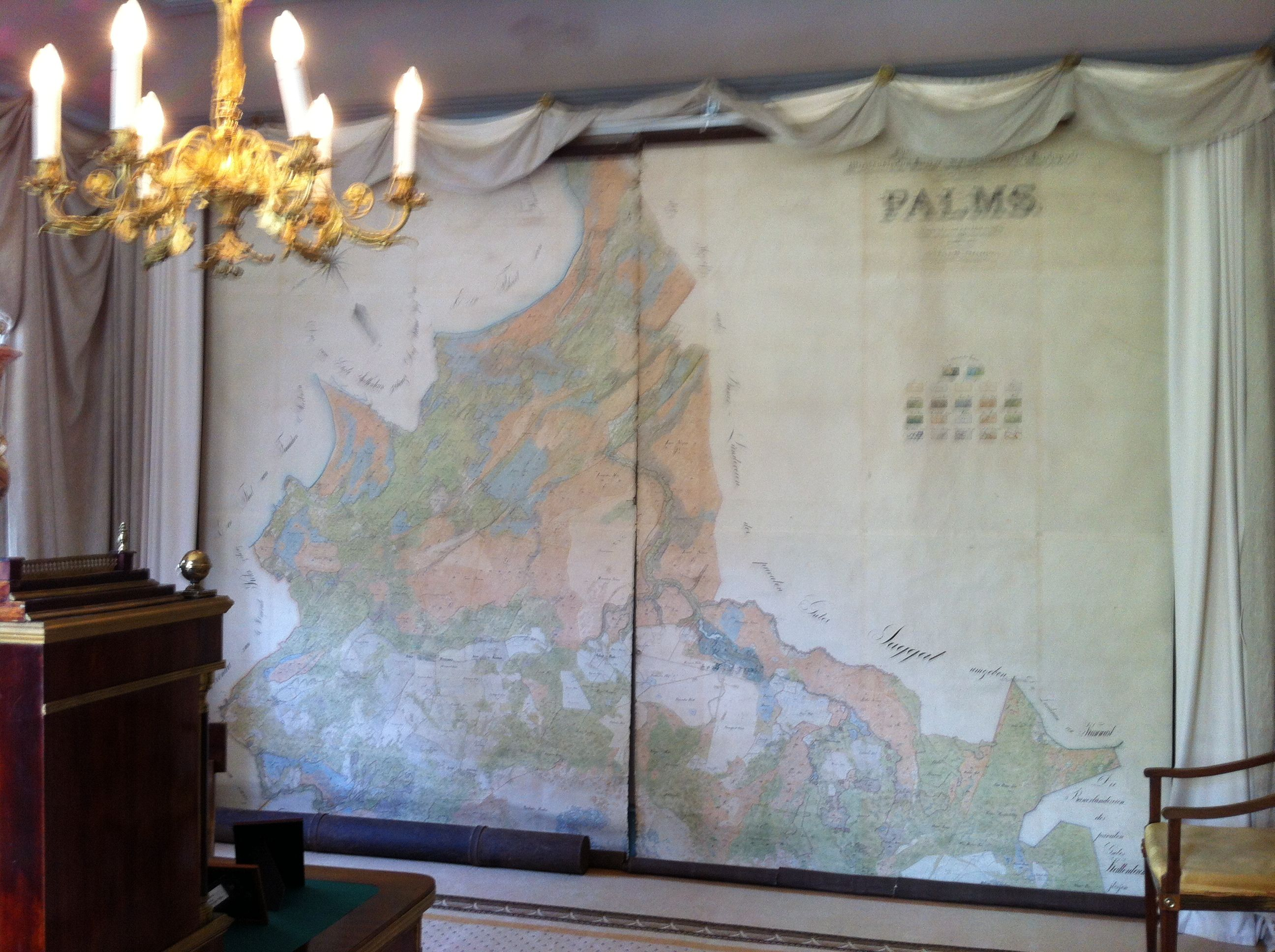 Framed map of the estate - Palmse Manor, Estonia