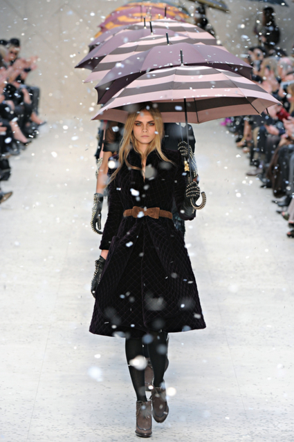 Wintery fashion.