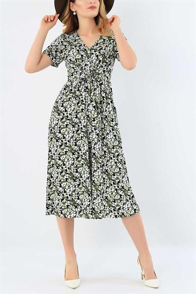 44 95 Tl Boydan Dugmeli Dokuma Viskon Elbise 30616 Modamizbir 2020 Elbise Moda Stilleri Giyim