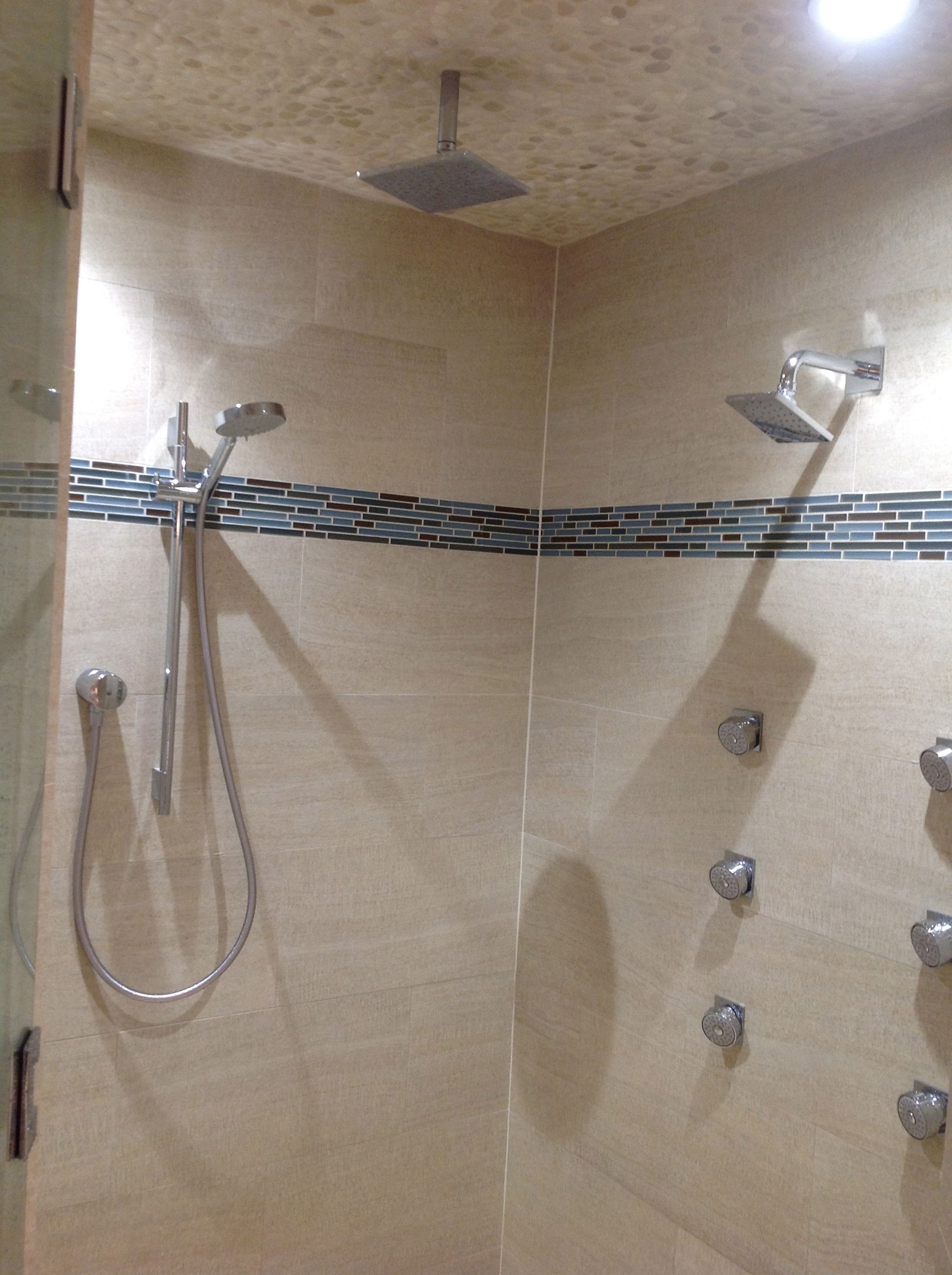 Steam Rain Shower Body Sprays And Two Shower Heads Make The