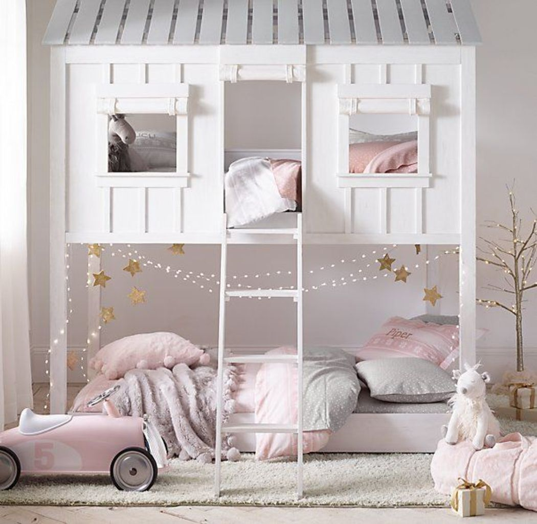 Delightful Bunk Bed Ideas For Dreamy Girl Rooms  Elonahome.com