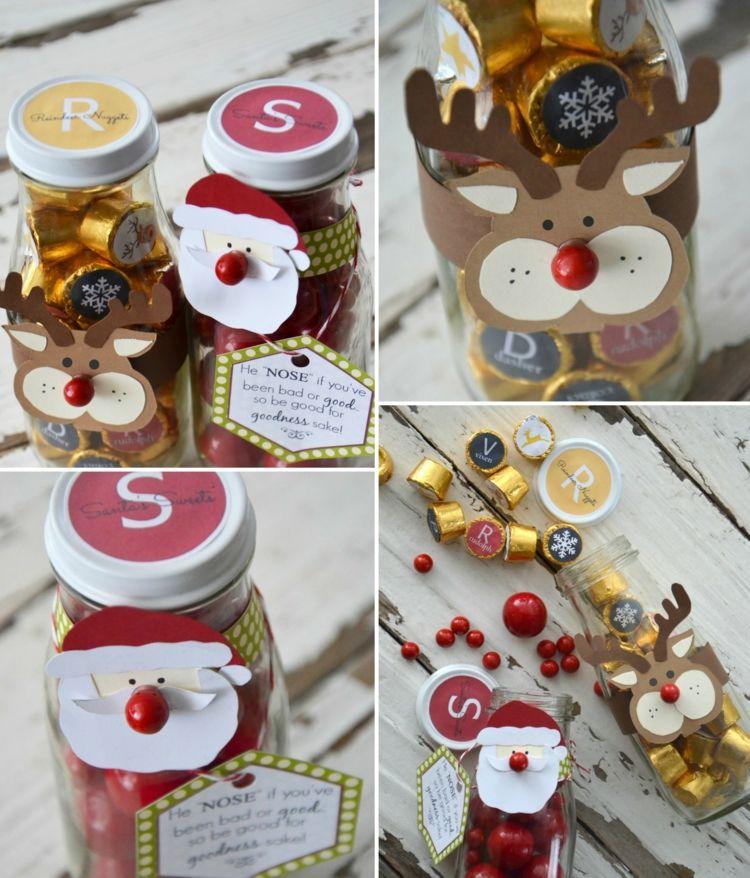 Süßigkeiten als Geschenke einweckgläser dekorieren weihnachtlich ...