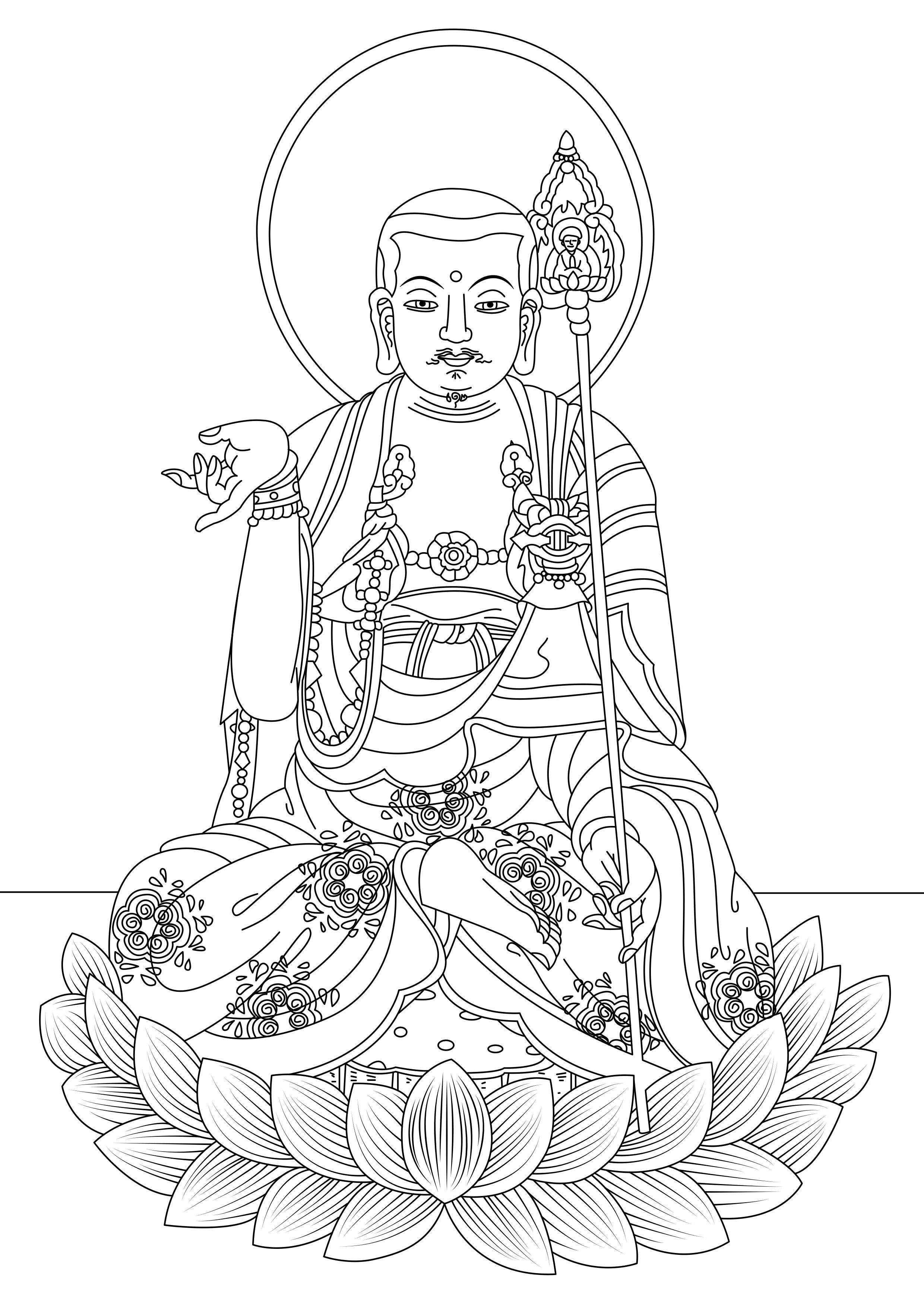 Coloring page created from a painting