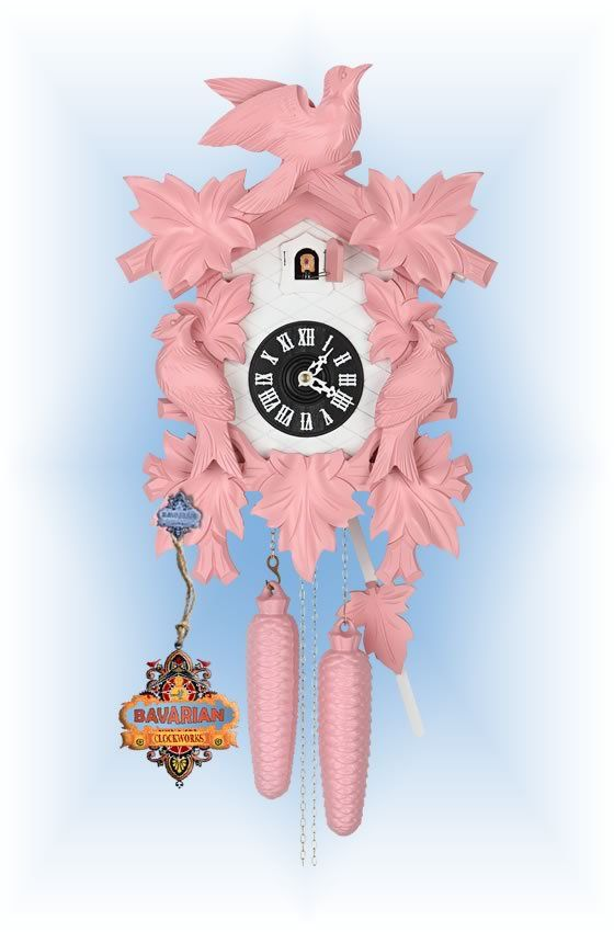 Walplus Pink Cuckoo Clock In Pink Cuckoo Clock Clock Wall Clock