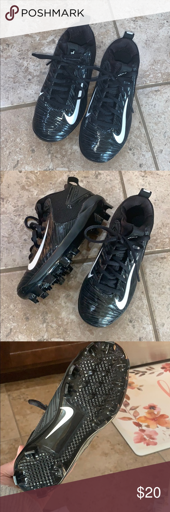 Mike Trout Cleats Nwob Mike Trout Cleats Nike Mlb Shoes In 2020 With Images Kids Shoes All Black Sneakers Platform Sneakers