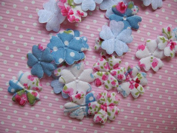 25 mini Padded Floral Flower Appliques by creationandsupplies, $2.25