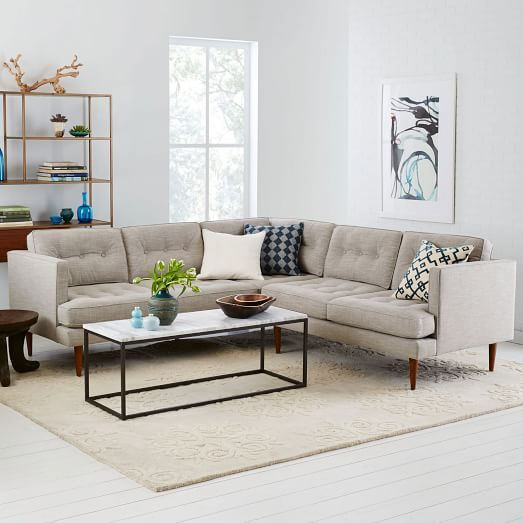 Traditional Meets Modern The Peggy Mid Century L Shaped Sectional