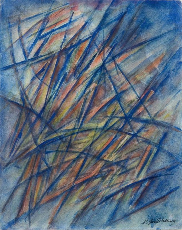 Natalia Sergueïevna GONTCHAROVA (1881-1962). Composition rayonniste, circa…