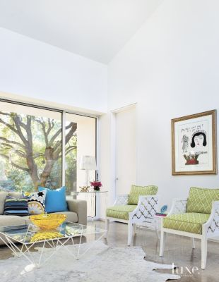 Modern White Family Room Armchairs