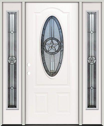 3 4 Oval Texas Star Steel Prehung Exterior Door Unit With