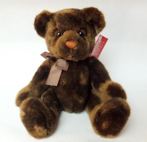 Russ Berrie Tartufo Brown Droopy Sleepy Eyed Teddy Bear