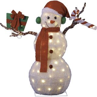 43-inch Animated Lighted Snowman Indoor/ Outdoor Ornament ...