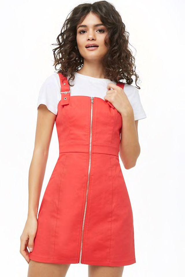 77f1e46b2e754 Zip Front Mini Dress