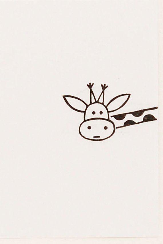 Giraffenstempel, Peekaboo-Stempel, Ex-Libris-Stempel, Giraffengeschenk, Geschenk des besten Freundes, kundenspezifischer Stempel, Giraffeneinladungen, meistverkaufte Einzelteile #stampmaking
