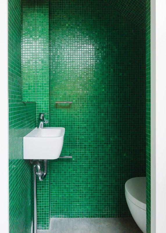 Paddington Terrace | Green tile bathroom, Modern ...
