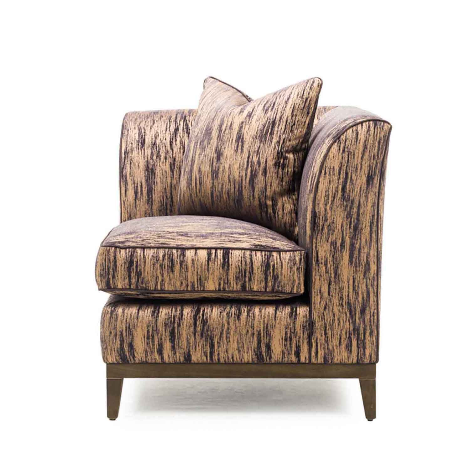 A unique piece can be used as a luxurious corner chair or as a