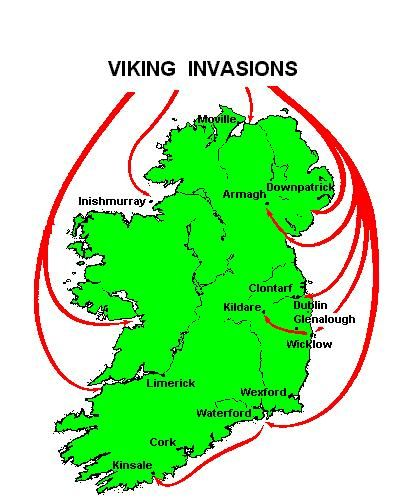 Map Of Ireland 800 Ad.History In 800 Ad The Vikings Took Over Ireland They Destroyed