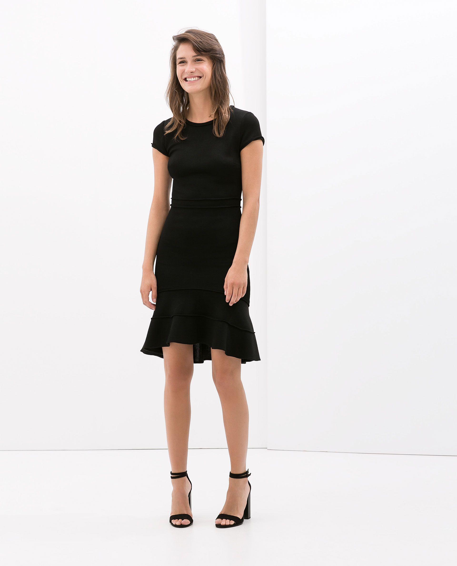 Colección Vestido Vestidos Zara BajoCostura Volante Aw14 qzjSMVGULp