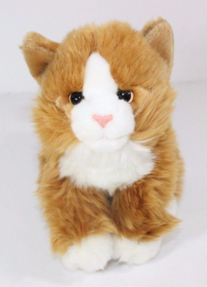 Animal Alley Kitty Long Fur Cat Plush Stuffed Kitten 9
