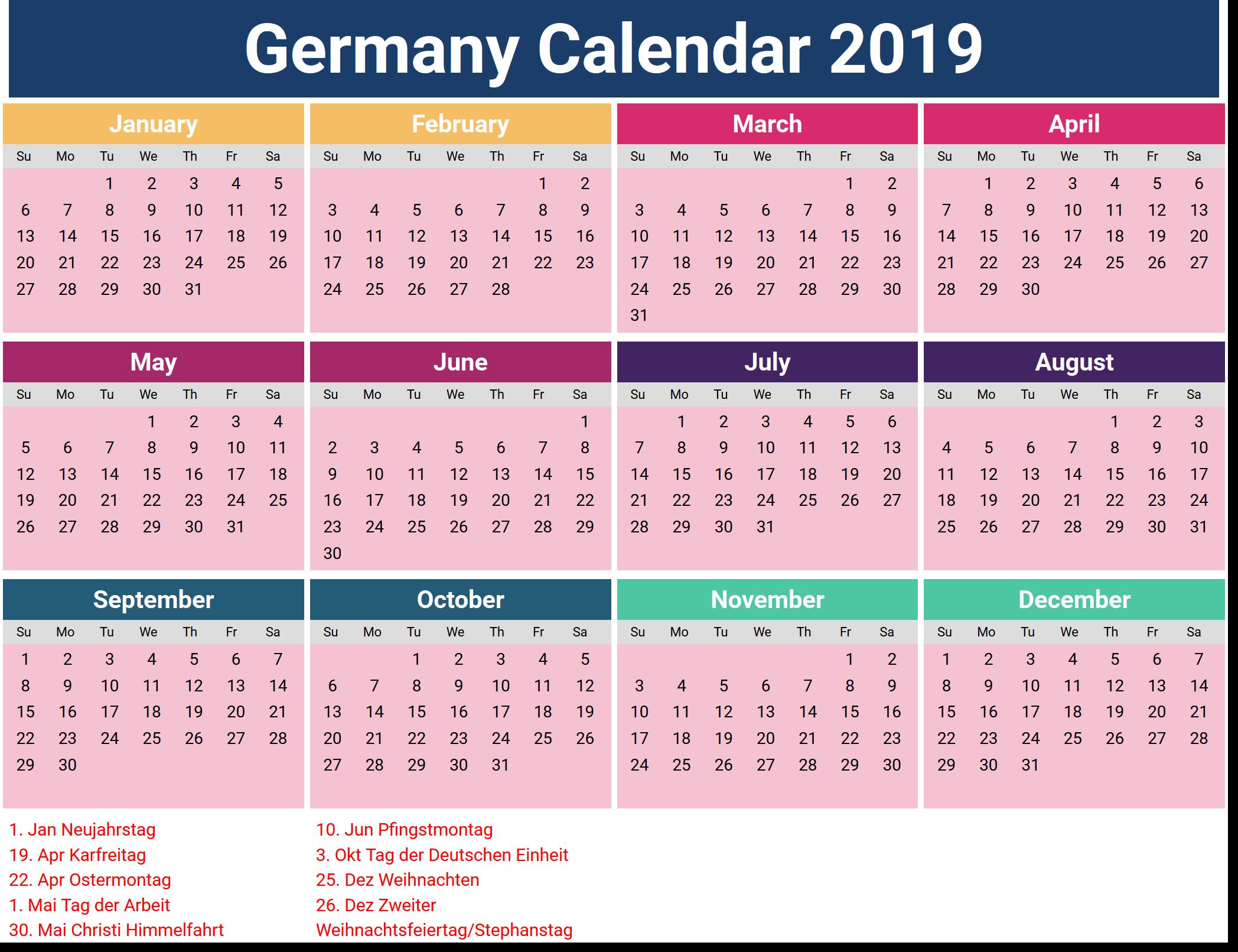 Calendar Of Holidays.February 2019 Calendar Holidays Germany Calendar Of February 2019