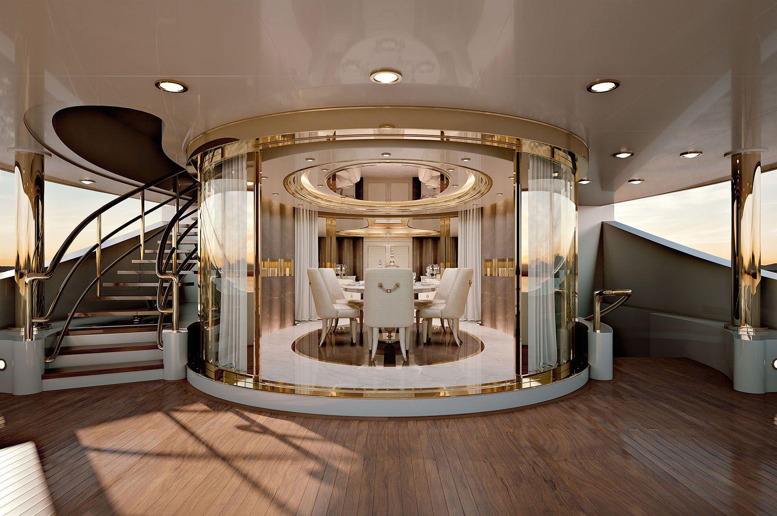Turri mobili ~ Numero tre collection turri luxury yacht dining room