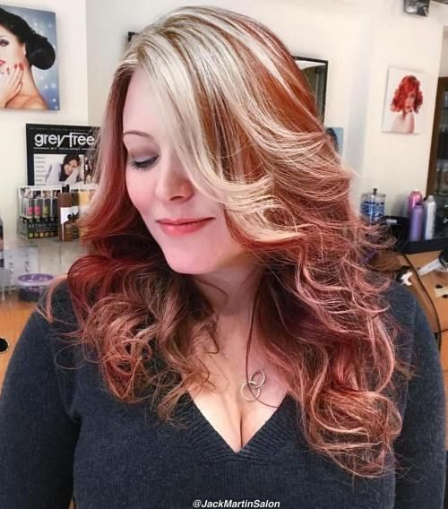 40 shades of grey silver and white highlights for eternal youth hair coloring chunky blonde highlights for red hair pmusecretfo Choice Image