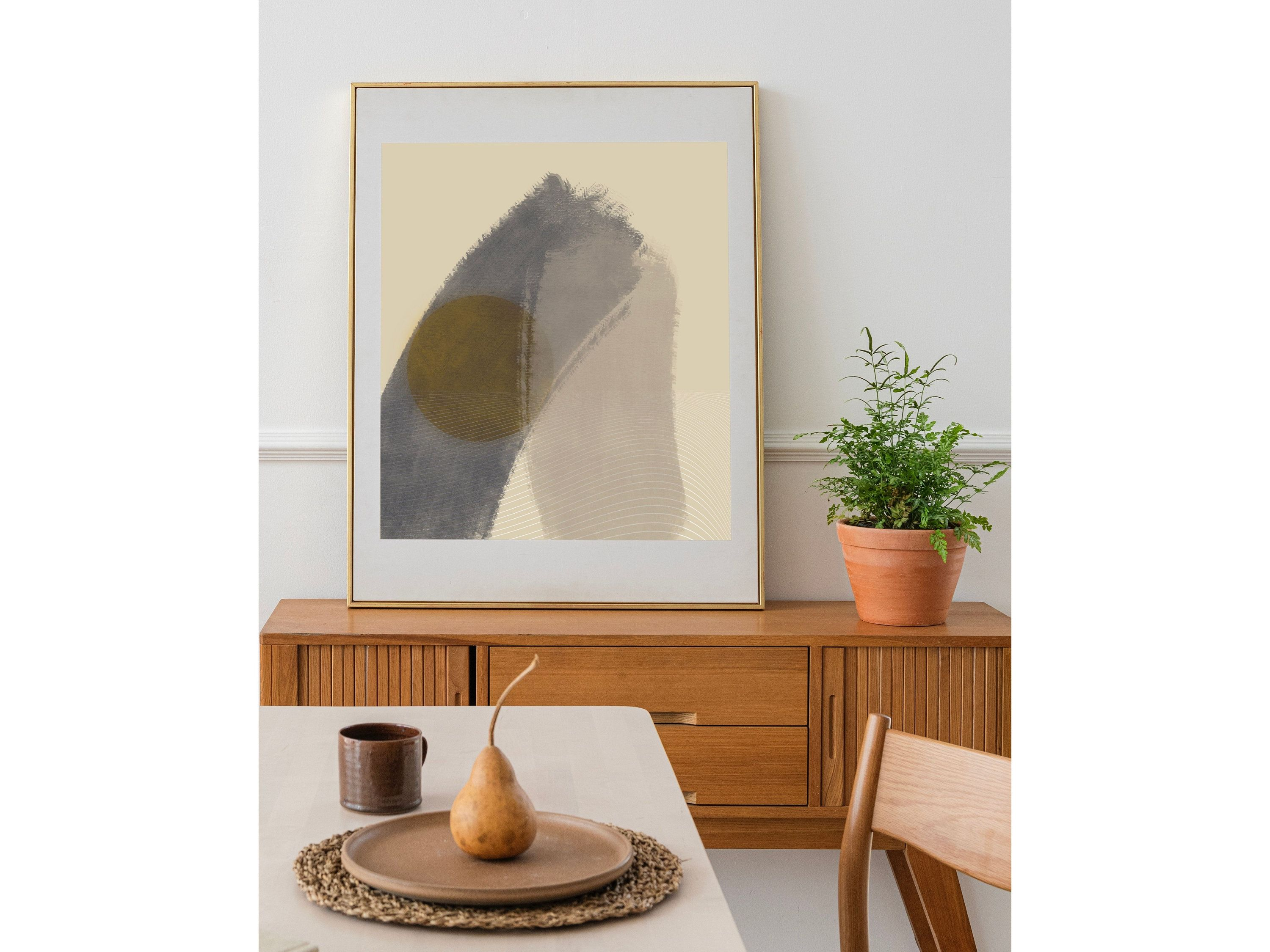 Abstract Mid Century Modern Painting Art Print Wall Art Home ...