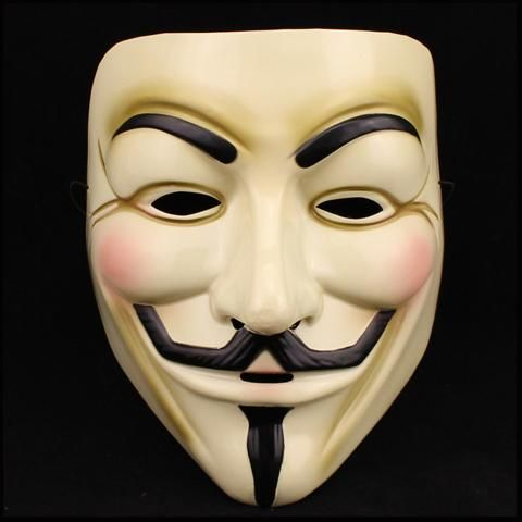 5 PK Halloween Cosplay Anonymous Movie Adult Guy Fawkes V For Vendetta Mask