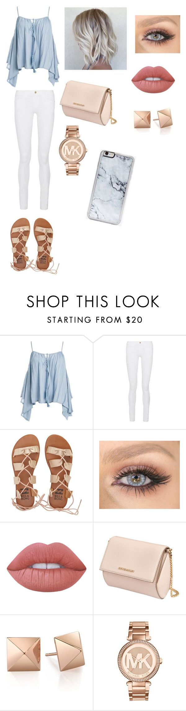 """""""Untitled #266"""" by julia1325 on Polyvore featuring Sans Souci, Frame Denim, Billabong, Lime Crime, Givenchy, Michael Kors and Zero Gravity"""