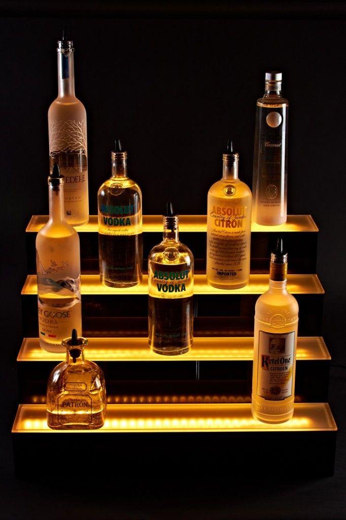 High Quality Acrylic Bar Shelves With Led Lighting