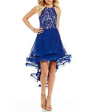 46e2b8430 Xtraordinary Sequin Lace Bodice High-Low Dress   Homecoming Queen ...