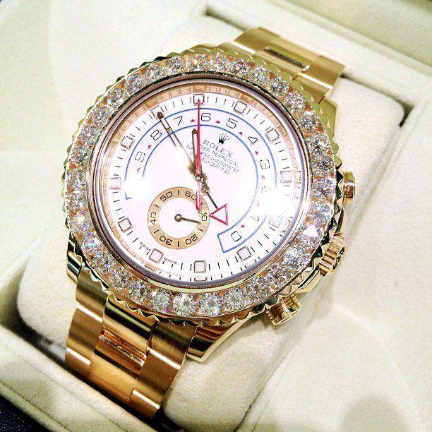 ♛ Rolex yach master 18K Gold / Diamond bezel ♛