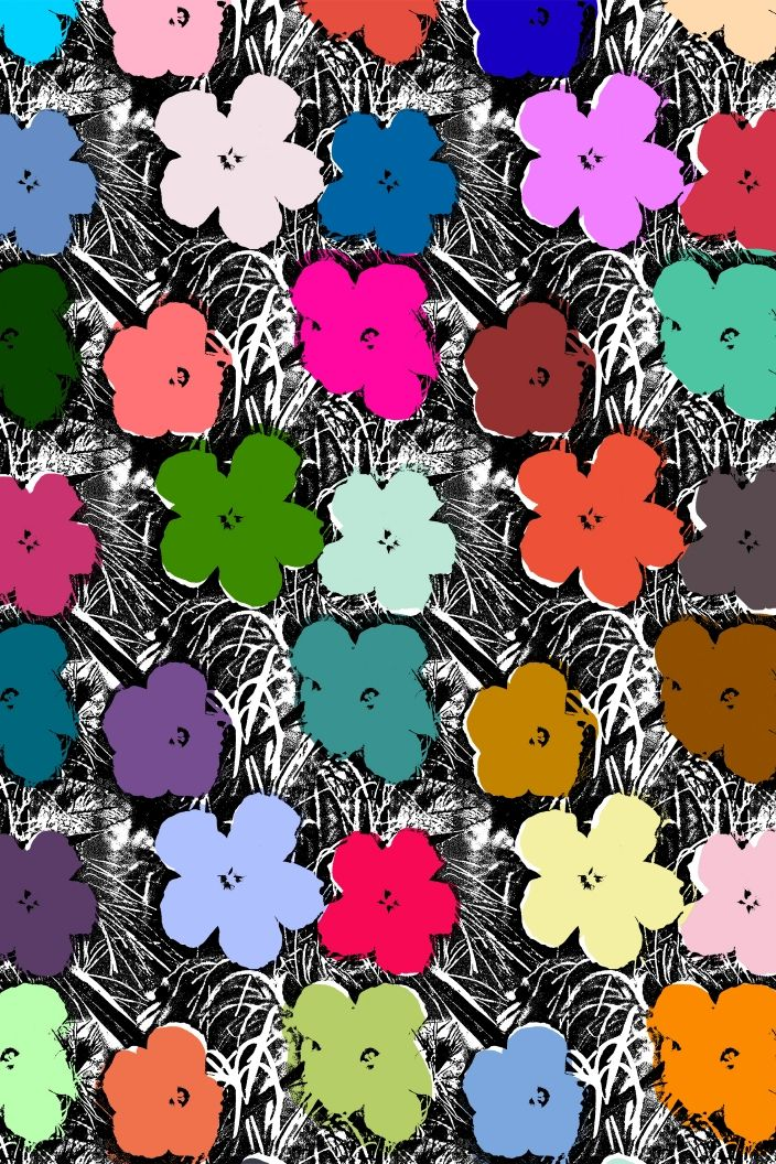 small flowers andy warhol by flavorpaper wallpaper andy warhol pinterest diy und. Black Bedroom Furniture Sets. Home Design Ideas