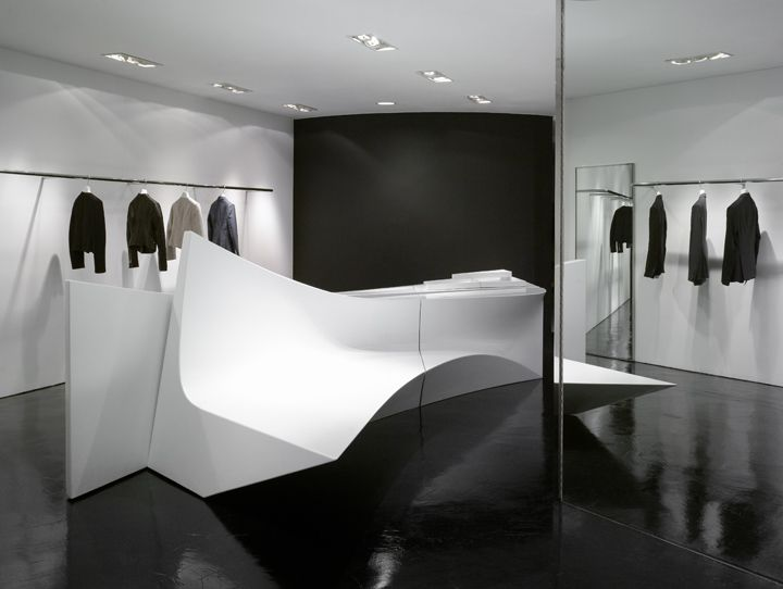 Neil Barrett Shop in Shop by Zaha Hadid Architects, Seoul and Hong