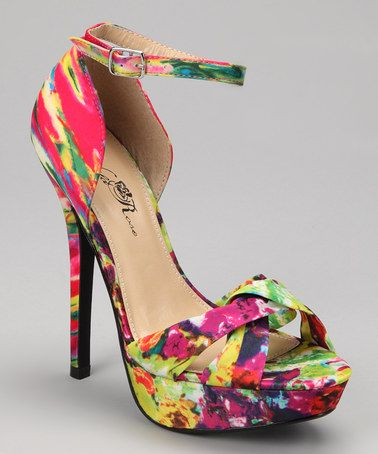 0e1c40dc0d509 Take a look at this Fuchsia   Green Roza Pump by Wild Rose on  zulily today!