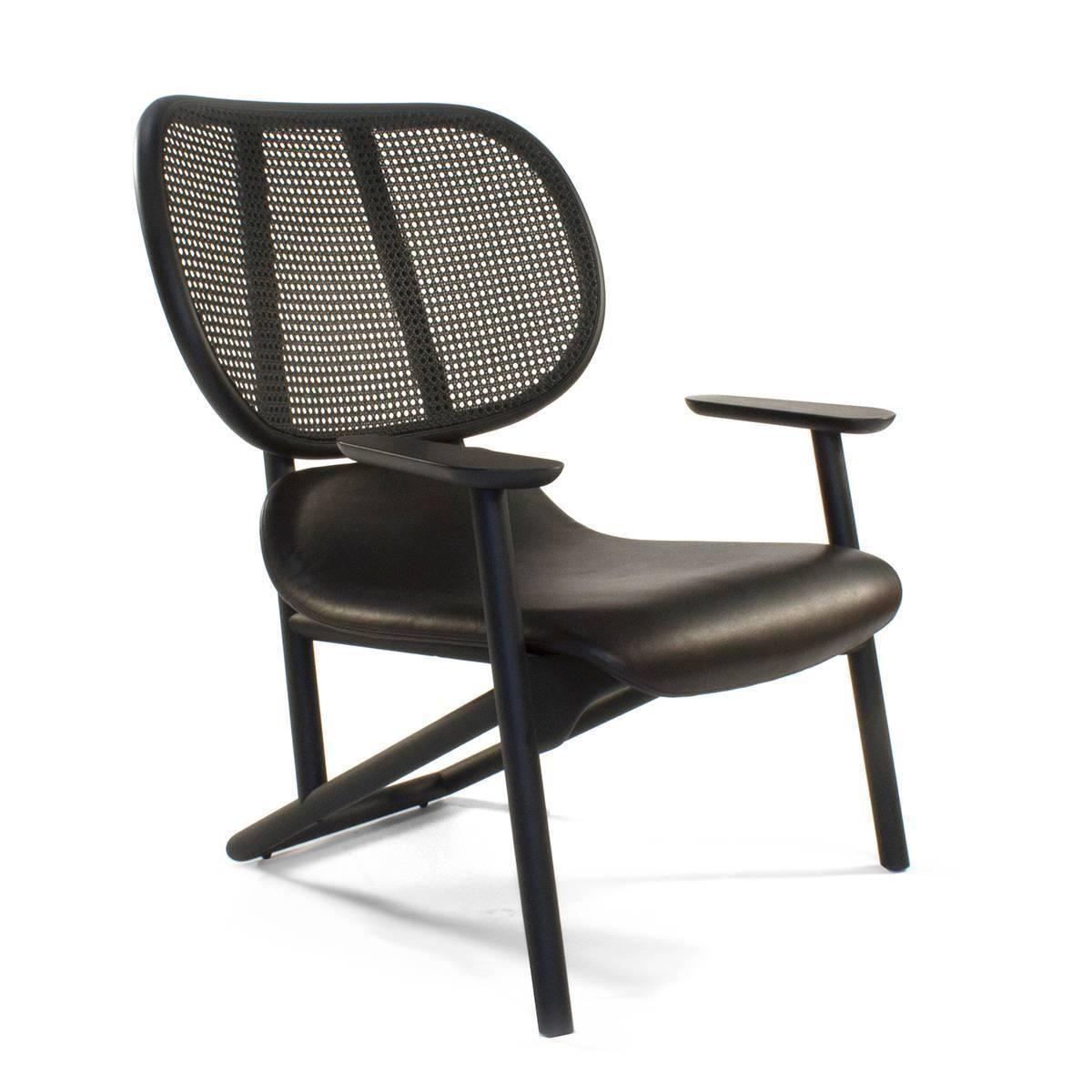 Moroso Black Klara Lounge Armchair by Patricia Urquiola