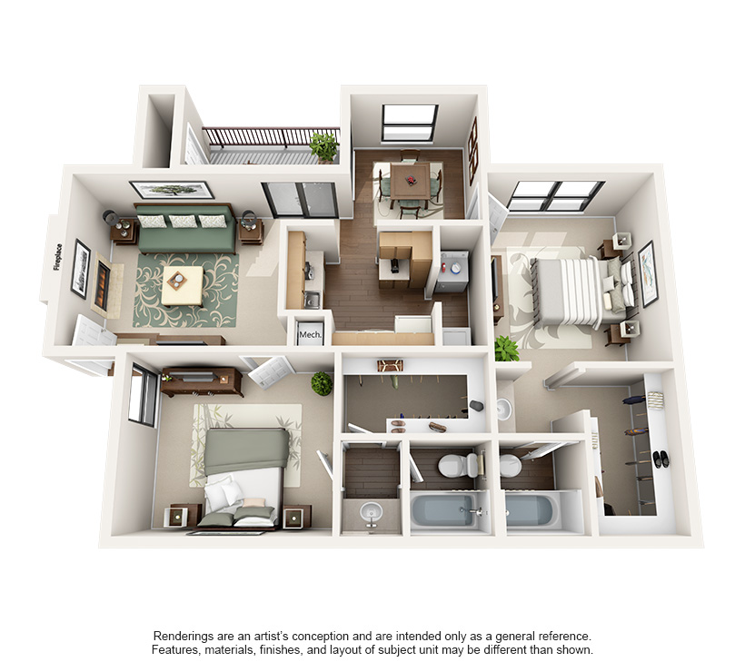 One and Two Bedroom Apartments in Austin, TX steadfast